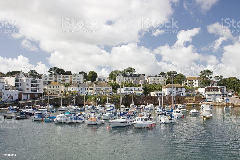 Paignton Harbour, Devon, UK stock photo