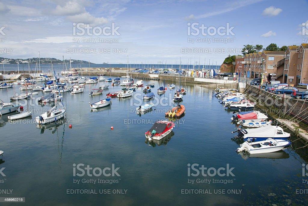 Paignton Harbour in south Devon UK stock photo