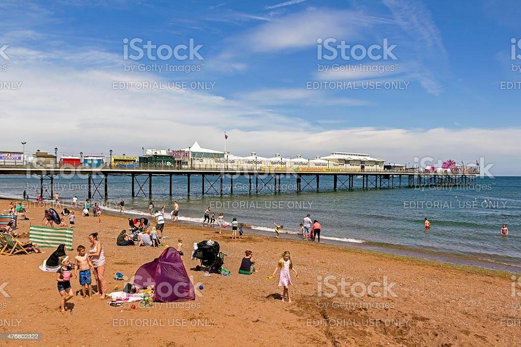 Paignton Pier Devon stock photo
