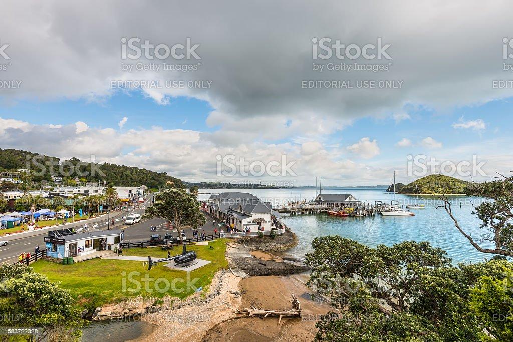 Paihia, Bay of Islands, Northland, New Zealand stock photo