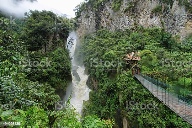 Photo of Pailon Del Diablo waterfall, Ecuador
