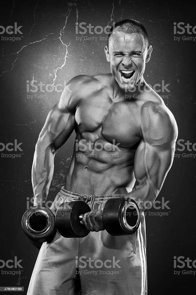 Pain and Gain royalty-free stock photo