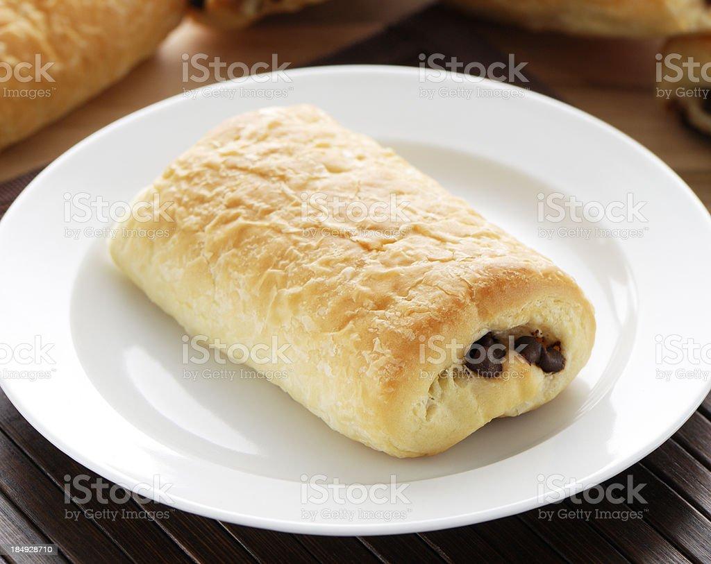 Pain au chocolat pastry stock photo