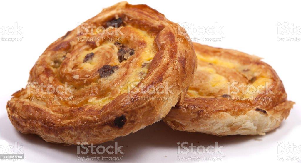 pain aux raisin stock photo