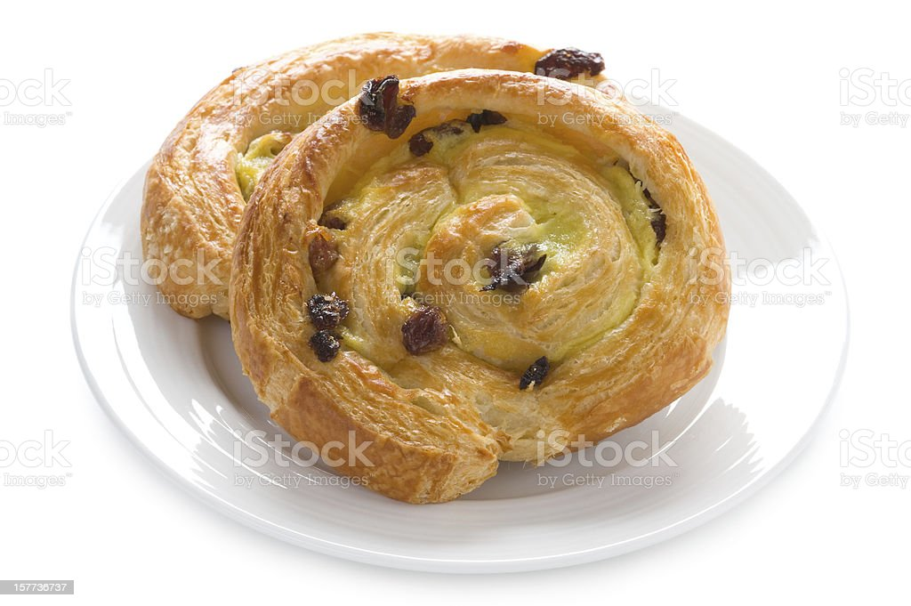 pain aux raisins stock photo