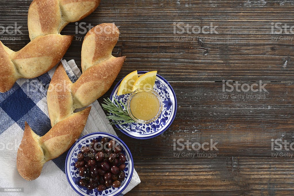 Pain D'Epi or Wheat Stalk Bread royalty-free stock photo