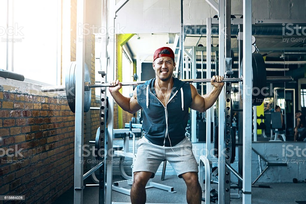 Pain doesn't stop me, I'm just getting started stock photo