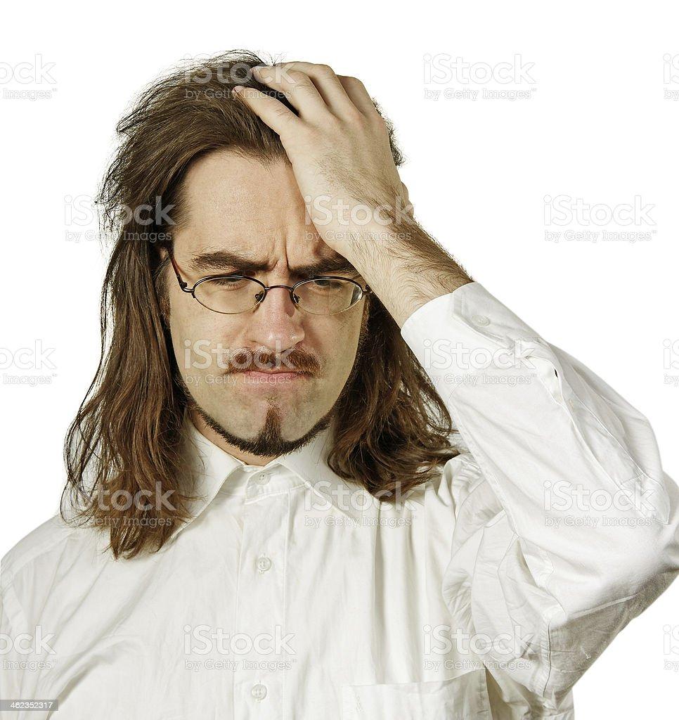 Pain head. royalty-free stock photo