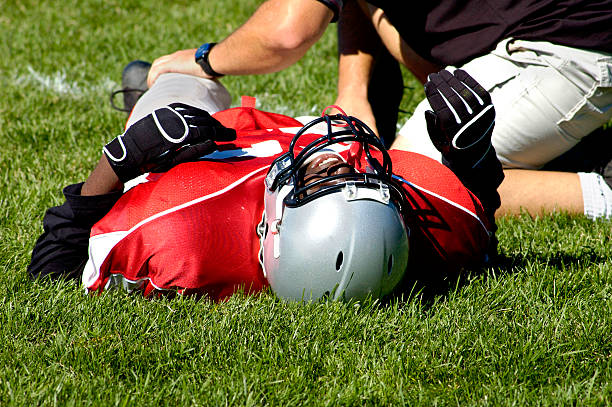 pain in a game - sports medicine stock photos and pictures