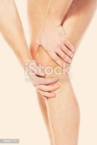 istock Pain in a knee. sports trauma 164027717