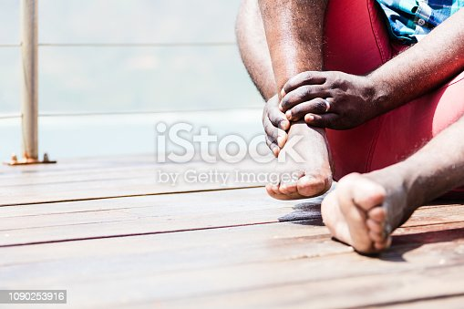 867056016istockphoto Pain in ankle 1090253916