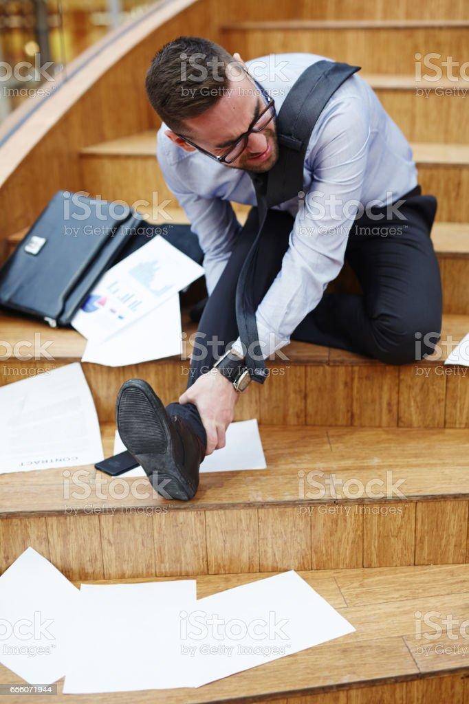 Pain in ankle Lizenzfreies stock-foto