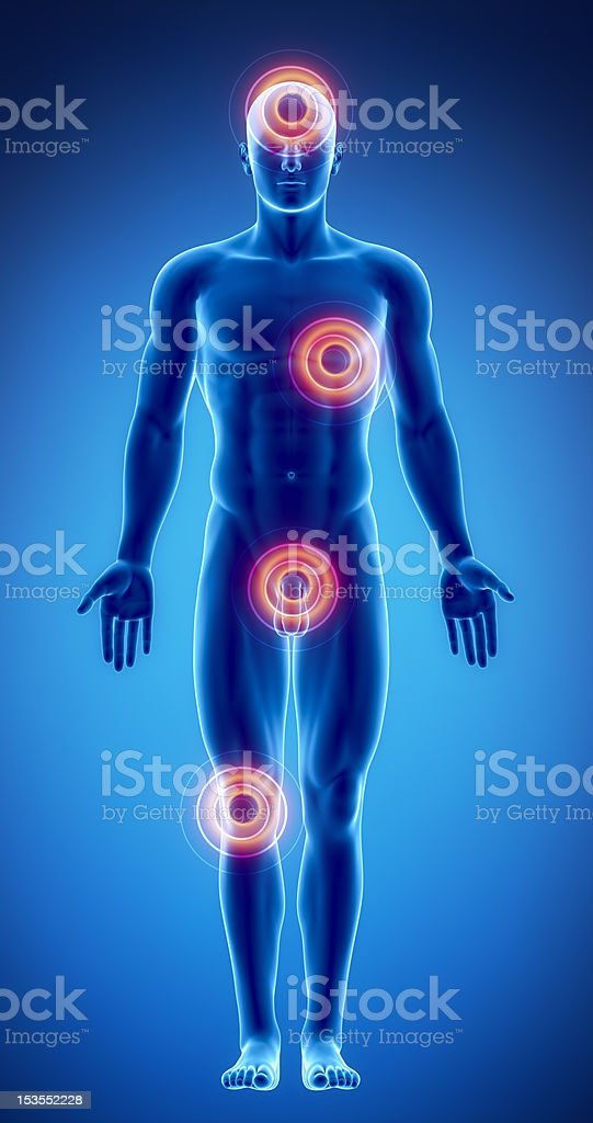 Pain In Different Male Body Parts Stock Photo & More Pictures of ...