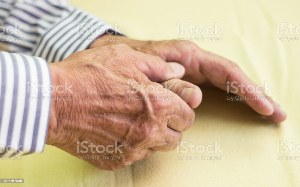 Pain in finger stock photo