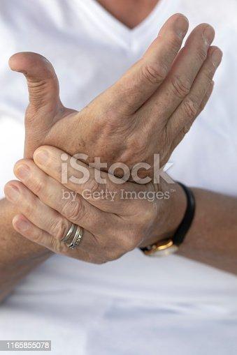 668285874 istock photo Pain in Hand 1165855078