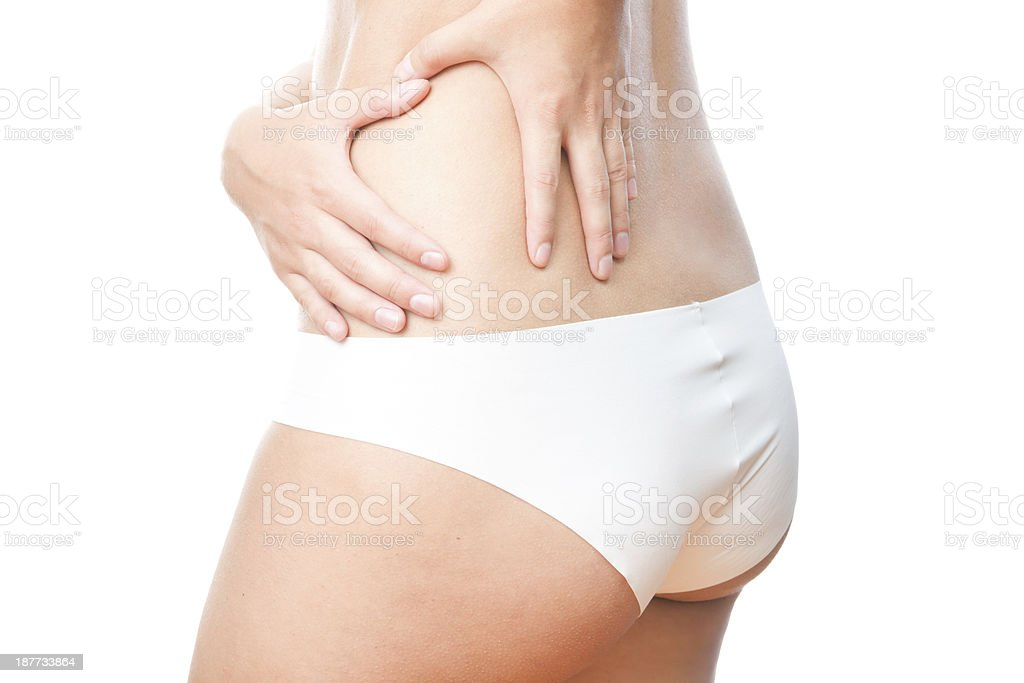 Pain in left side of body isolated royalty-free stock photo