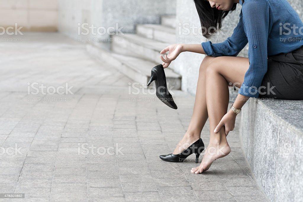 Pain in leg stock photo