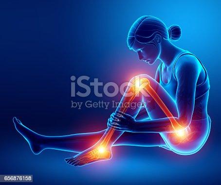 istock Pain in leg 656876158