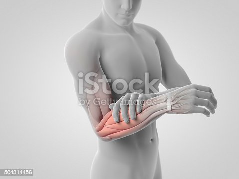 istock Pain in lower arm and muscles 504314456