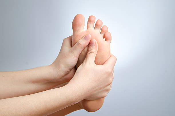 pain in the foot - podiatry stock pictures, royalty-free photos & images