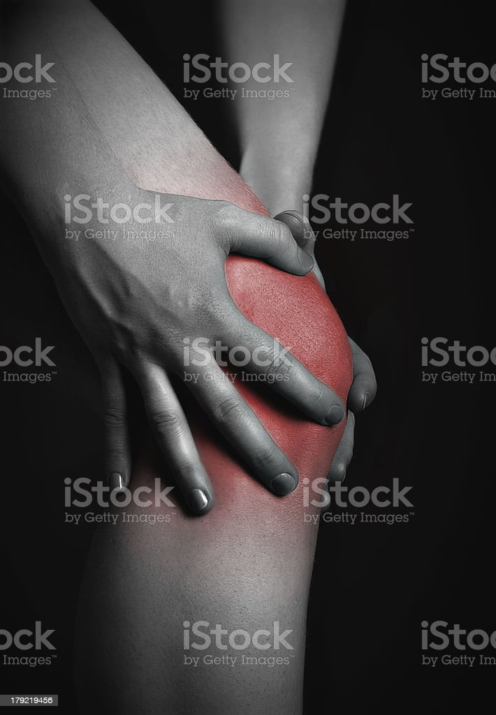 pain in the knee. royalty-free stock photo