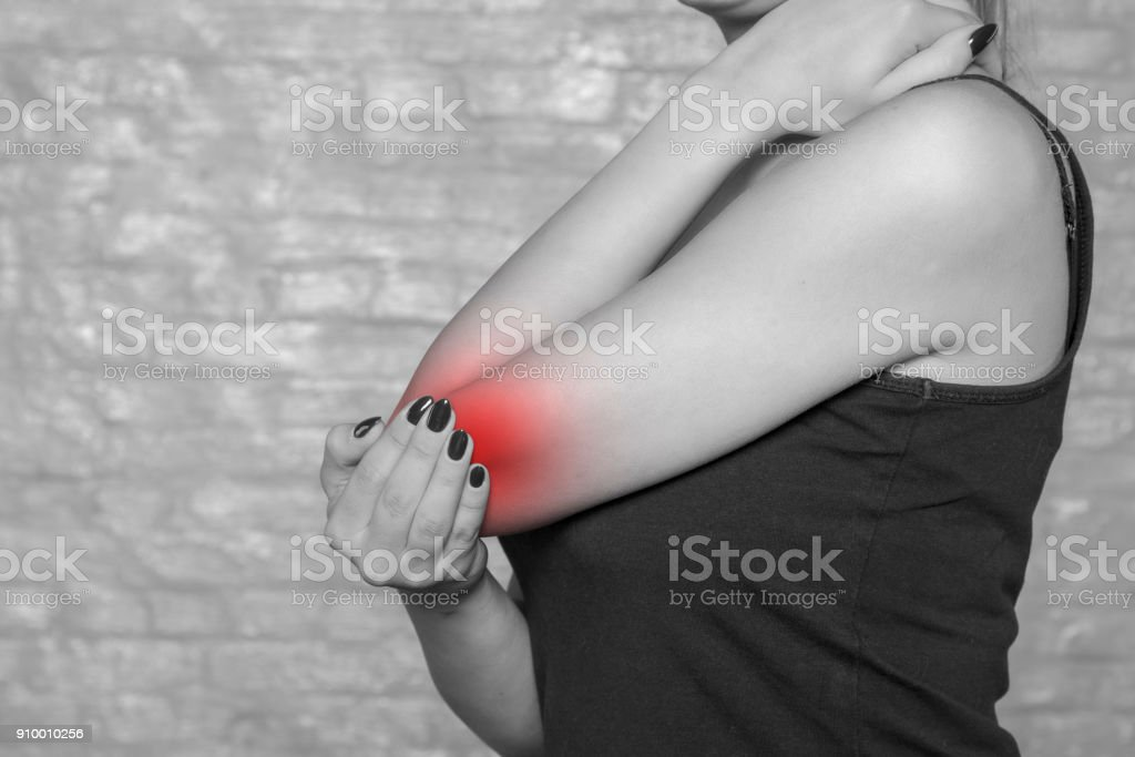 pain in the lymph, rheumatic problems stock photo