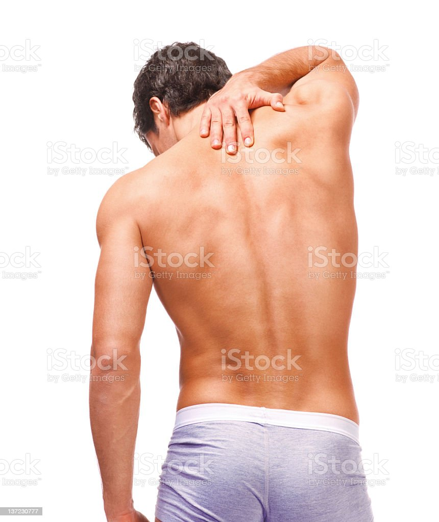 pain in the neck royalty-free stock photo