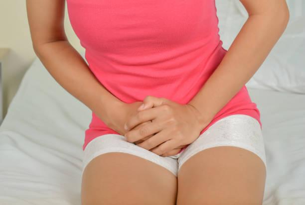Pain in women stock photo