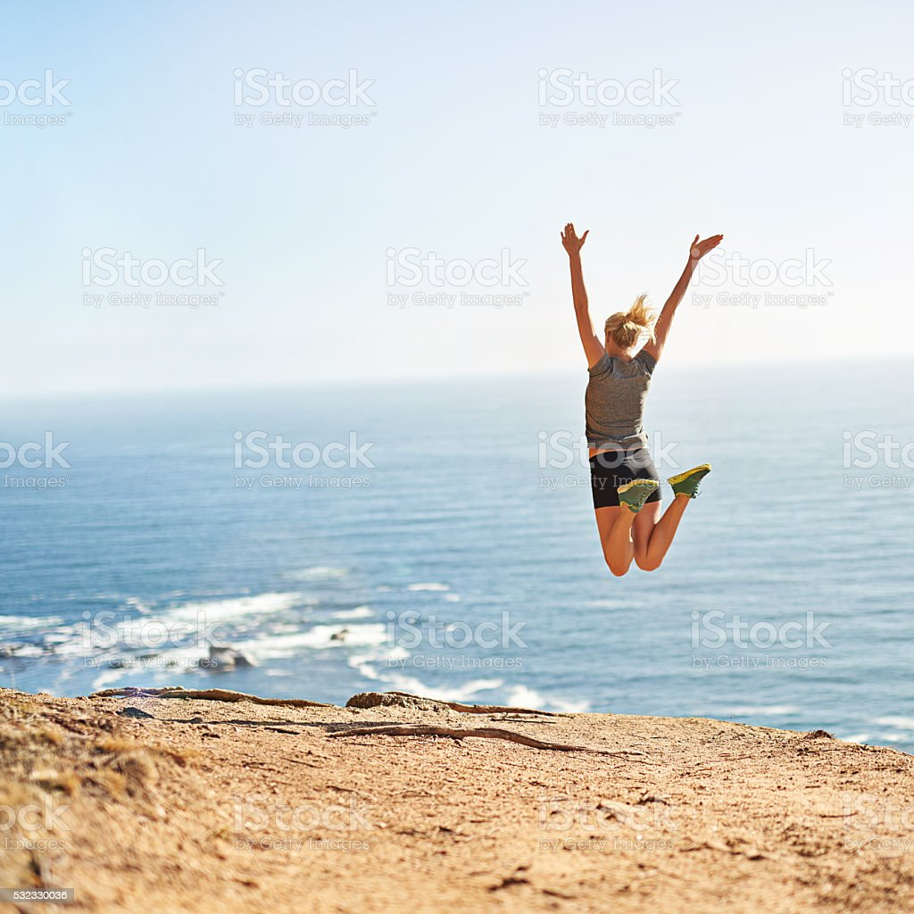 Pain is only temporary but victory is forever stock photo