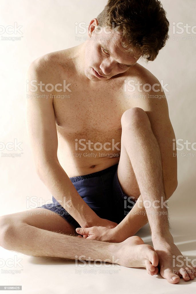 Pain of Muscular Dystrophy stock photo