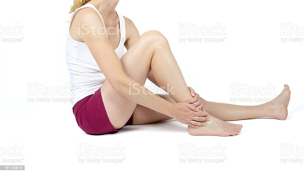 pain on ankle royalty-free stock photo