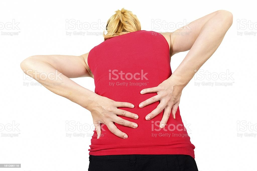 pain on back royalty-free stock photo