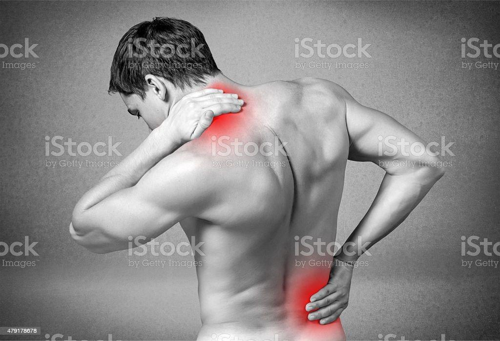 Pain, painful, painfulness stock photo