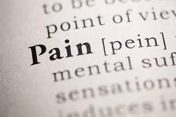 pain - definition krankheit stock-fotos und bilder