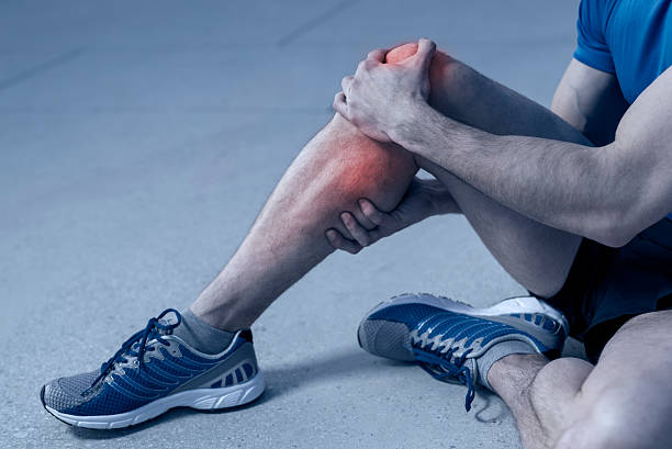 pain - human knee stock photos and pictures