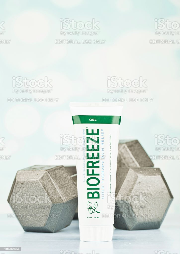 Pain Relief for Sore Muscles stock photo