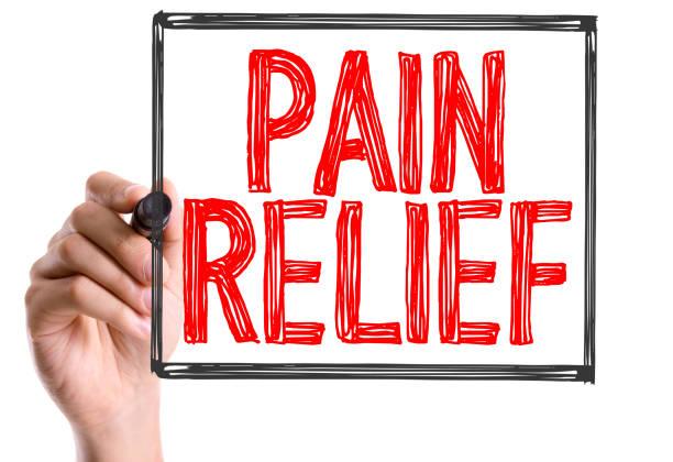 Pain Relief stock photo