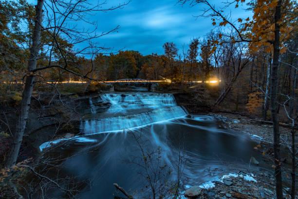 Paine Falls Park, Lake County, Ohio stock photo