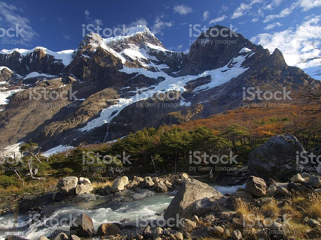Paine Grande in Autumn stock photo