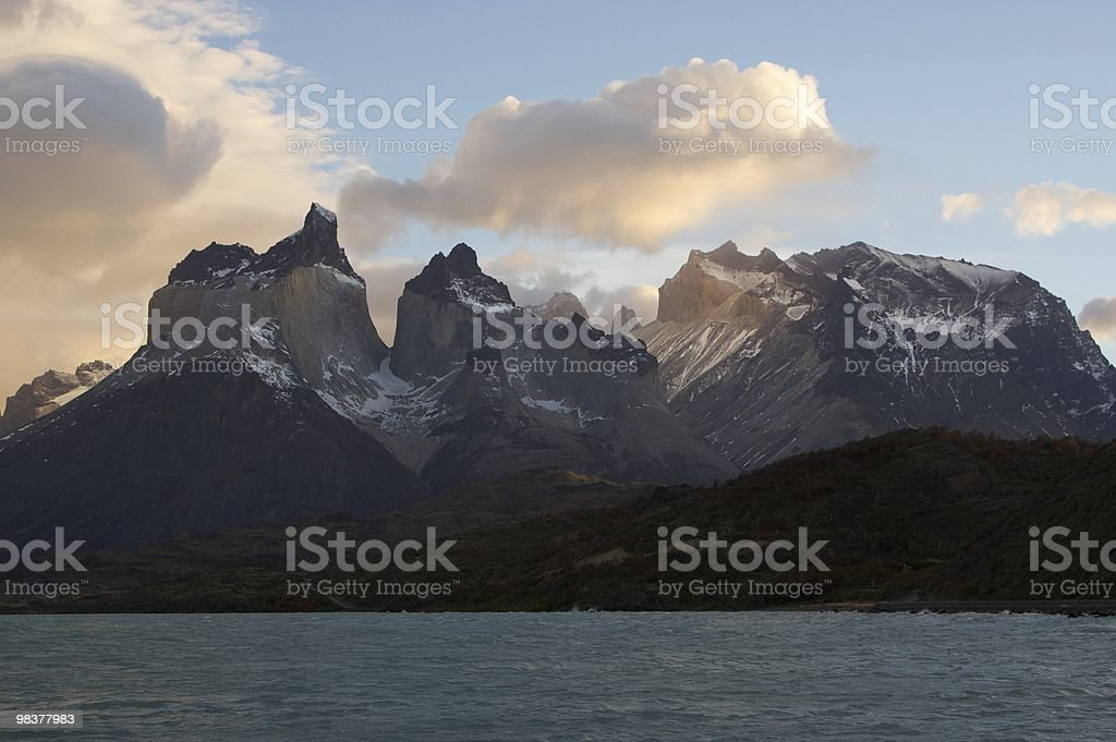 Cordillera del Paine royalty-free stock photo