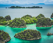 istock Painemo, Group of small island in shallow blue lagoon water, Raja Ampat, West Papua, Indonesia 941495820