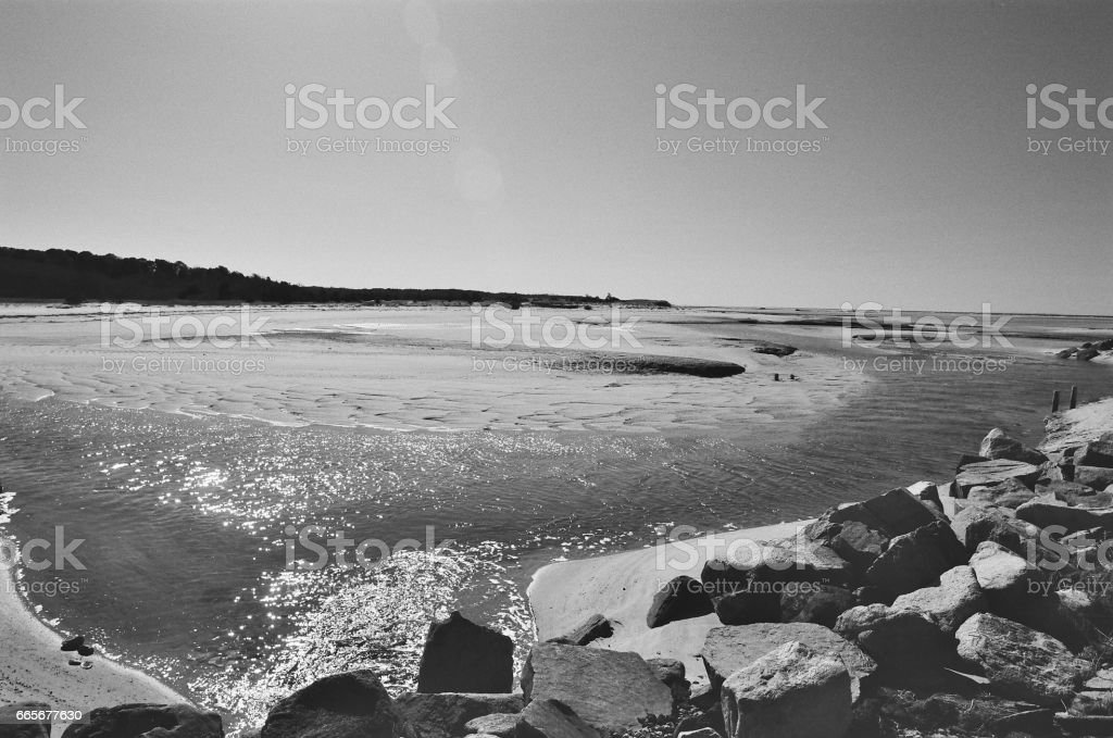 Paines Creek Beach, Brewster MA. stock photo