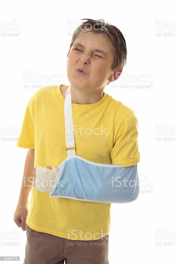 Painful accident injury royalty-free stock photo