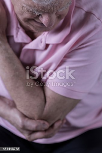 istock Painful elbow injury 481446738