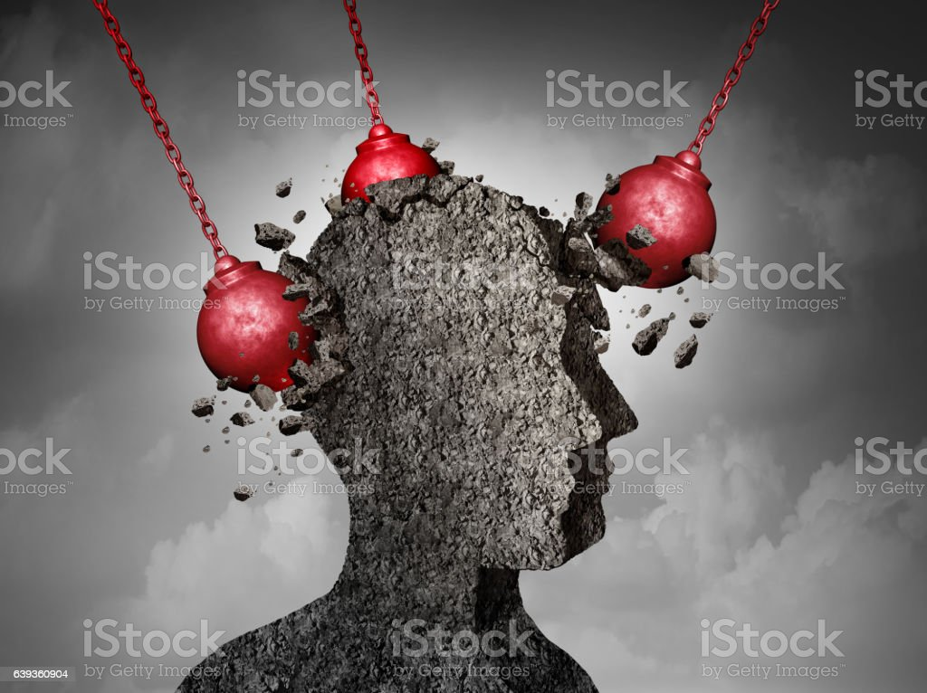 Painful Headache concept royalty-free stock photo