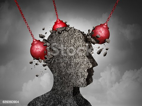 istock Painful Headache concept 639360904