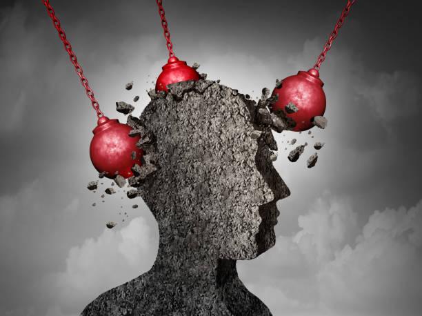 Painful Headache concept stock photo