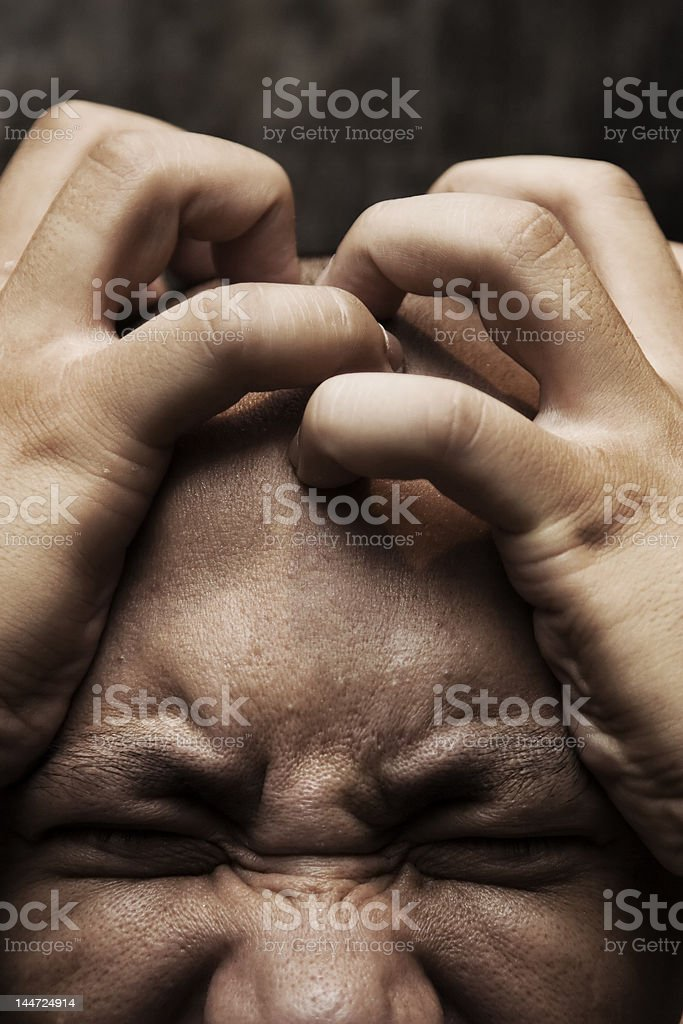painful headache royalty-free stock photo