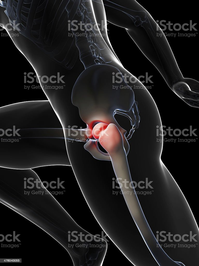 painful hip joint royalty-free stock photo