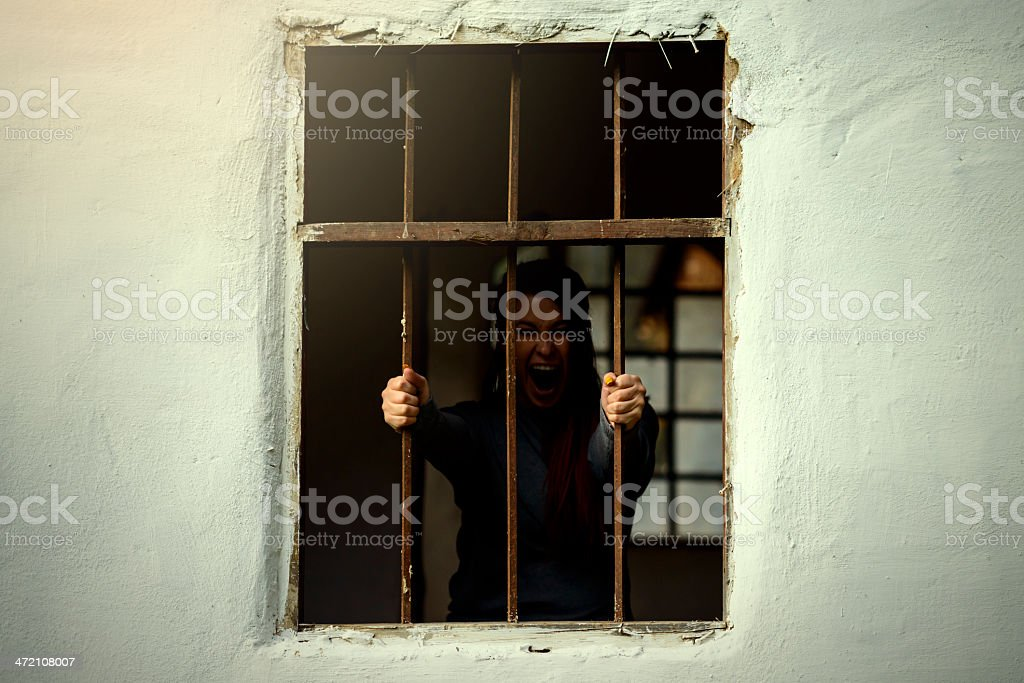 painful prison stock photo